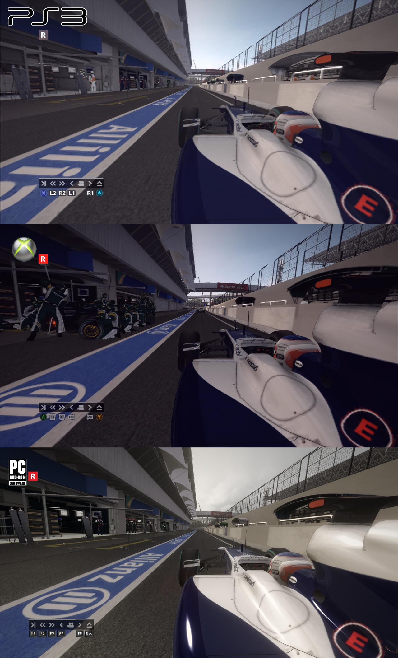 F1 2010 - grafické srovnání PC/PS3/X360 17871