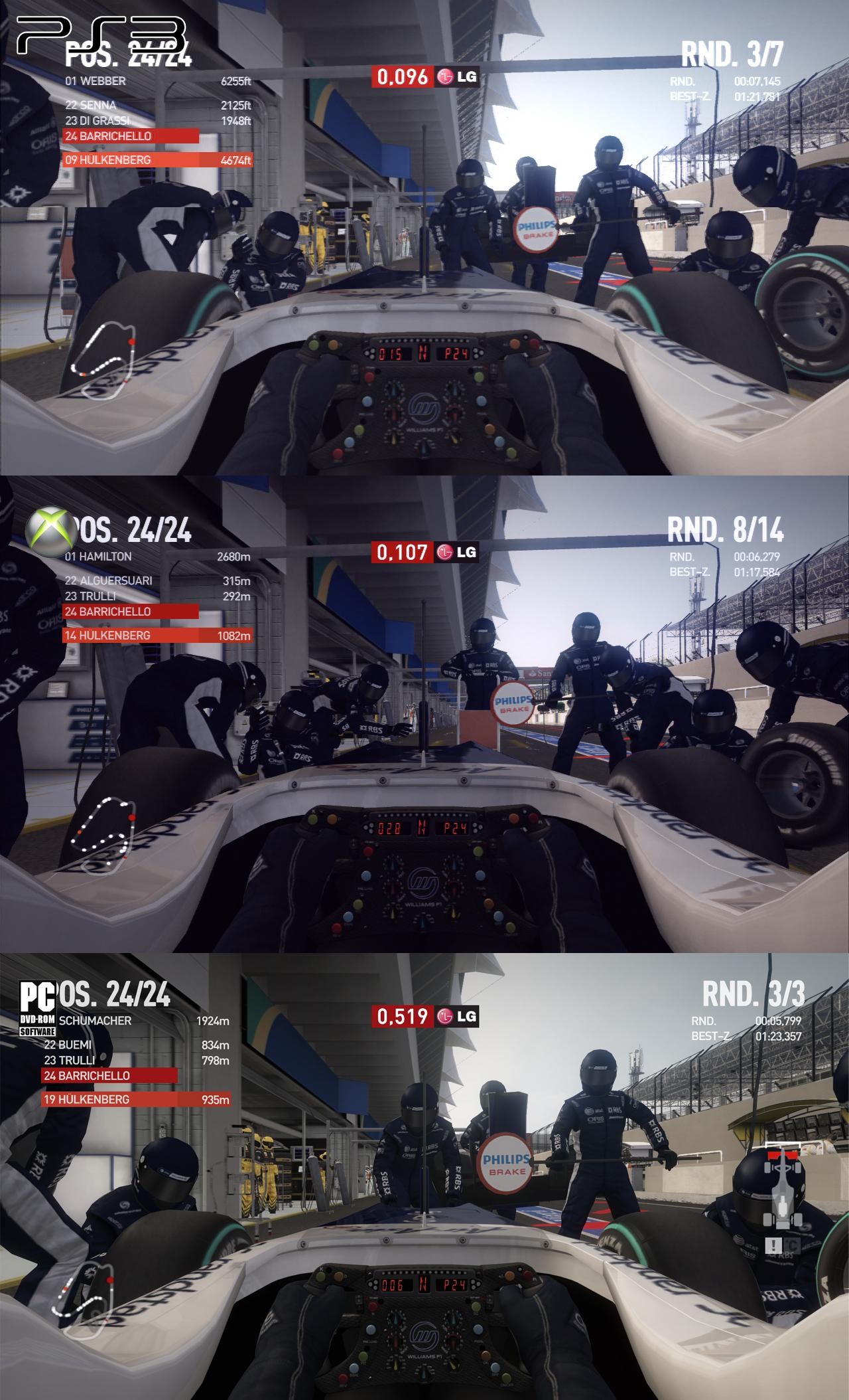 F1 2010 - grafické srovnání PC/PS3/X360 17872