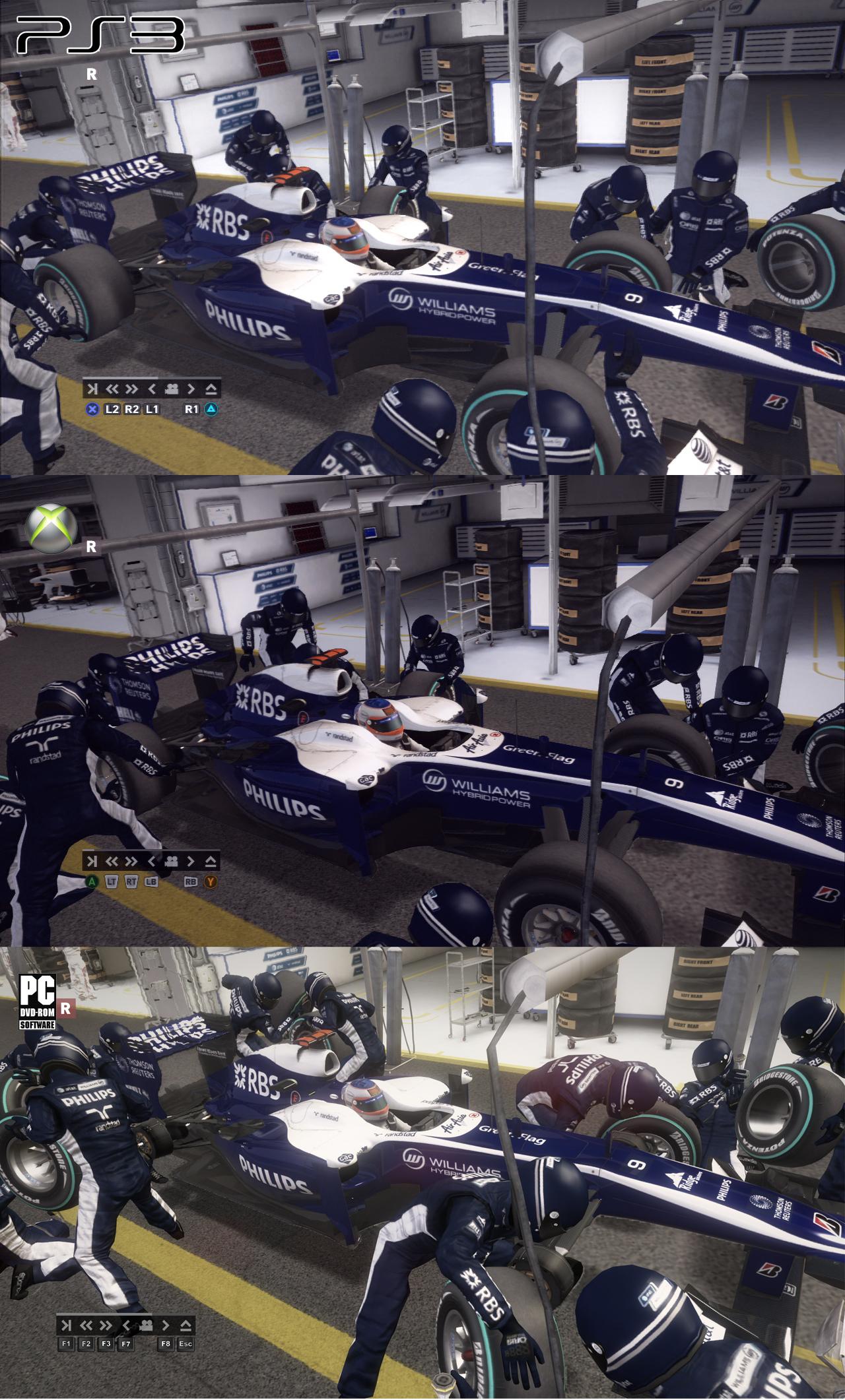 F1 2010 - grafické srovnání PC/PS3/X360 17873