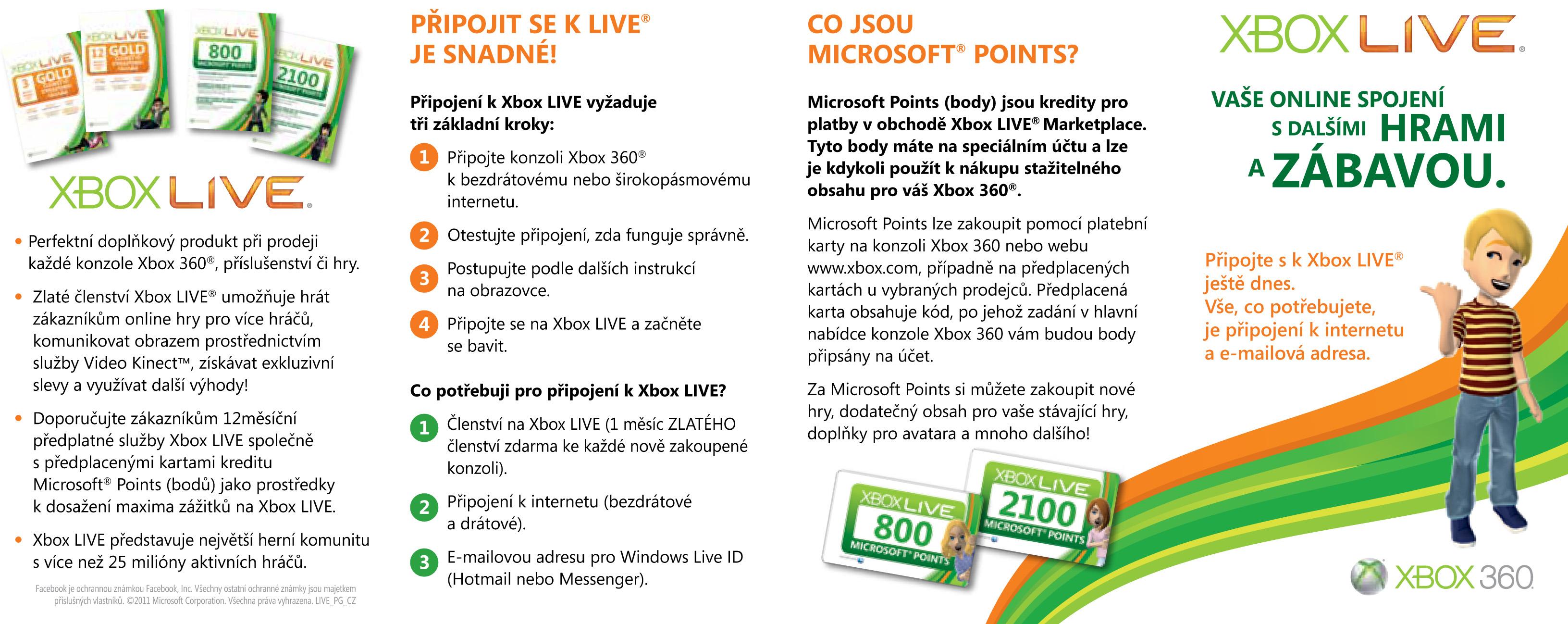 Roční zlaté členství služby Xbox Live s 50% slevou pro ČR 34735