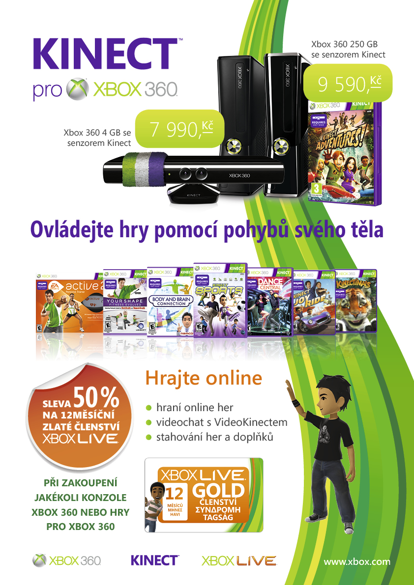 Roční zlaté členství služby Xbox Live s 50% slevou pro ČR 34736
