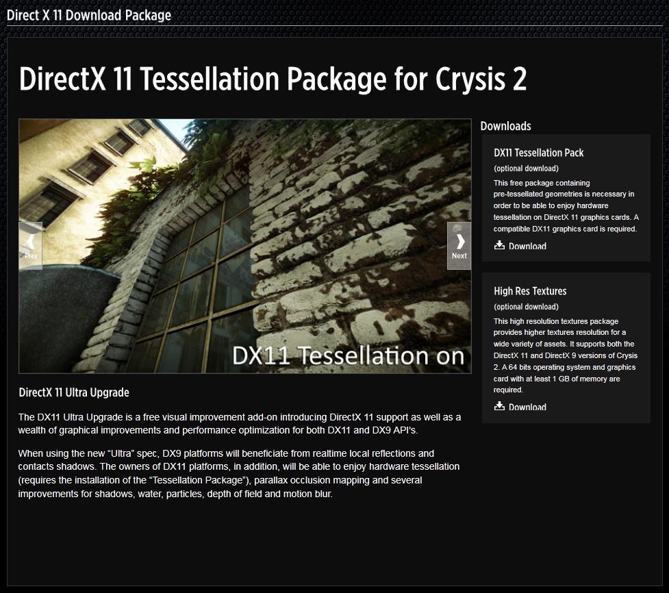 DX11 update pro Crysis 2 odhalen 45341