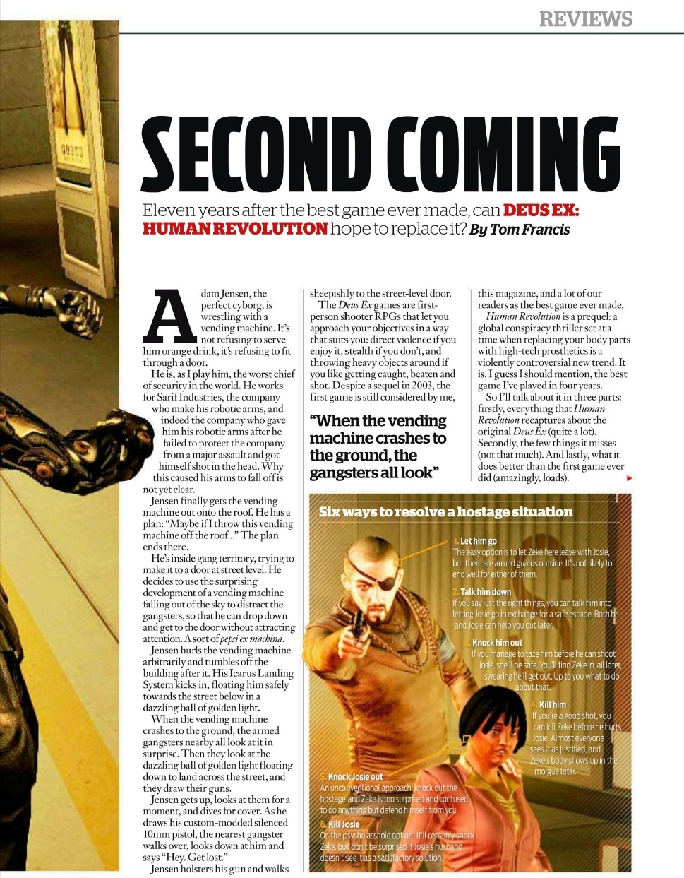 Deus Ex: Human Revolution v první recenzi 48075