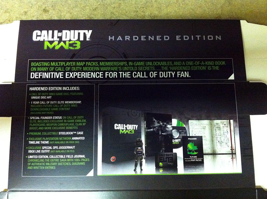 Odhalen obsah Hardened edice Modern Warfare 3 50645