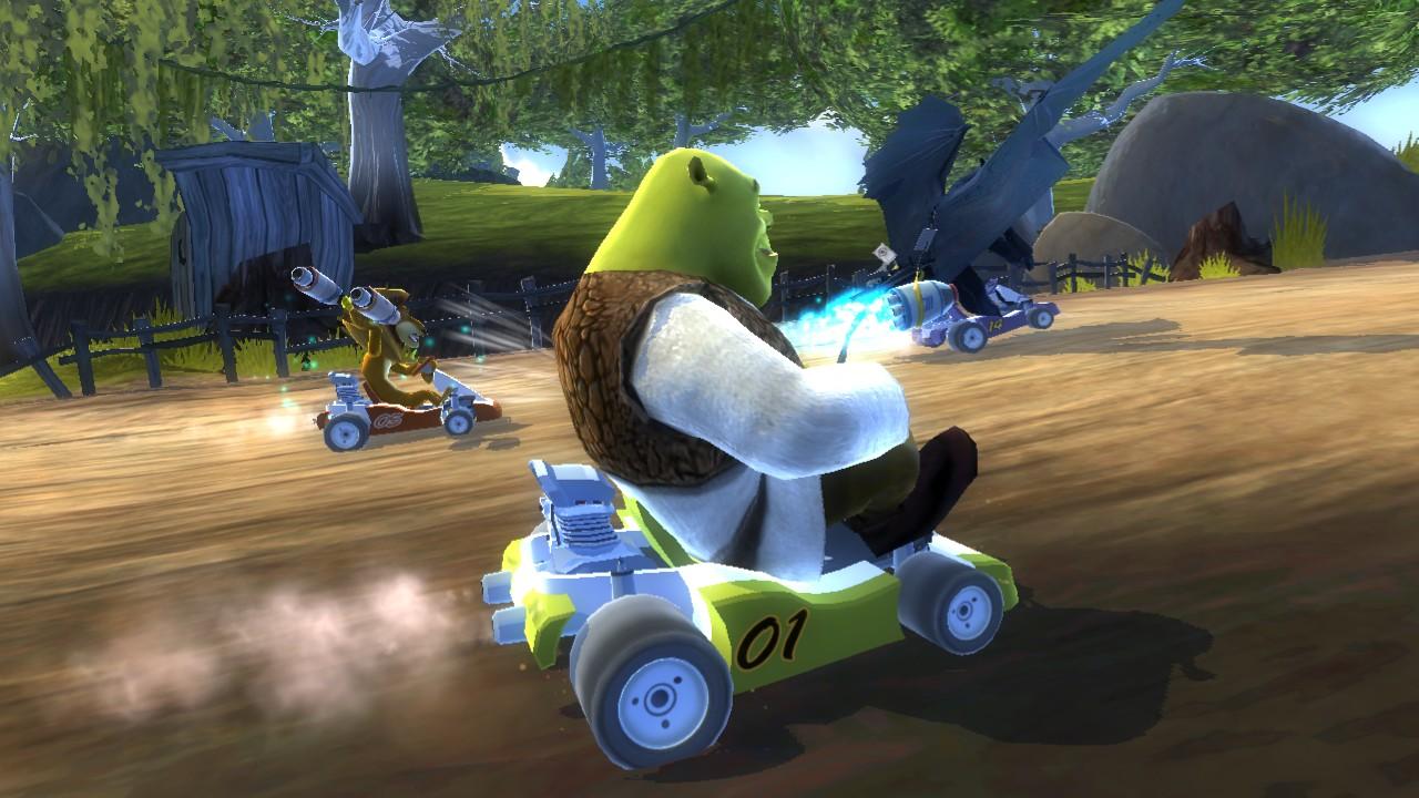 Shrek a hvězdy Madagaskaru v závodní hře 51594