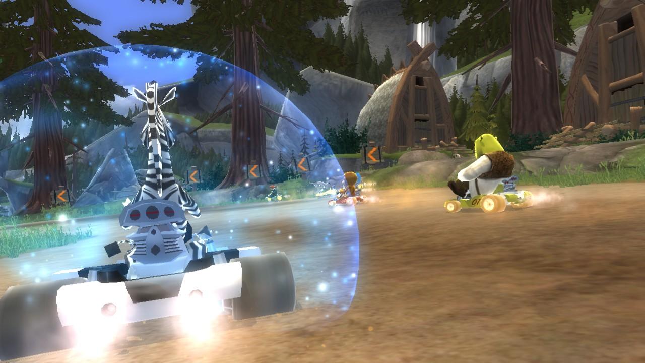 Shrek a hvězdy Madagaskaru v závodní hře 51596