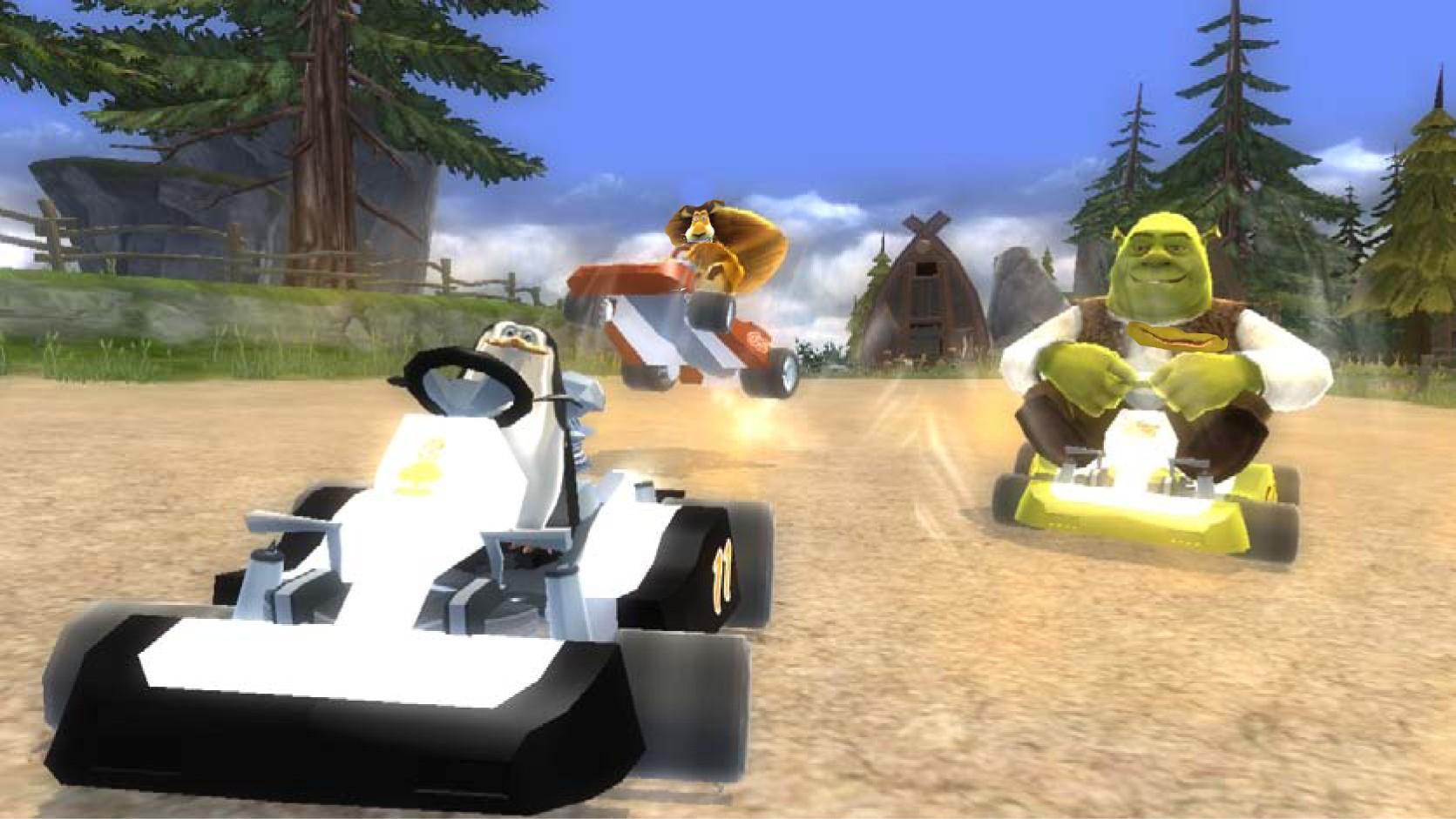 Shrek a hvězdy Madagaskaru v závodní hře 51597