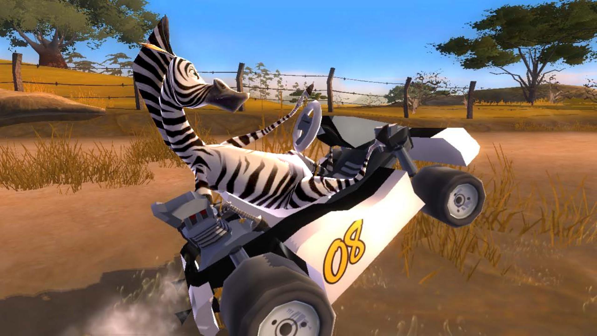Shrek a hvězdy Madagaskaru v závodní hře 51598