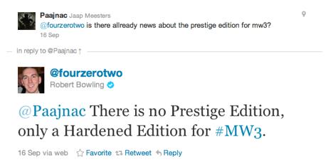 Modern Warfare 3 bez Prestige Edition 52091