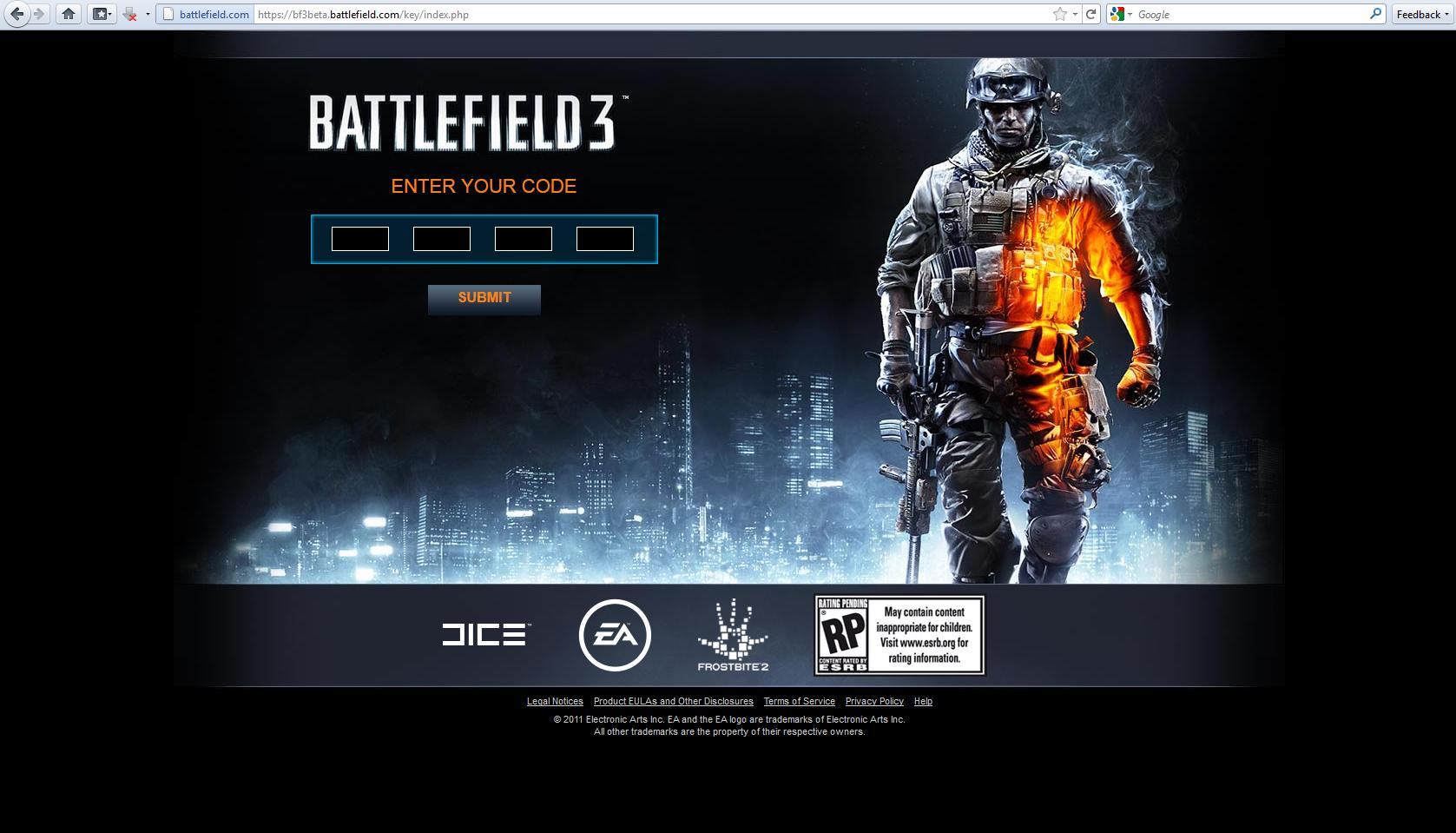 Stránky pro betu Battlefield 3 52167