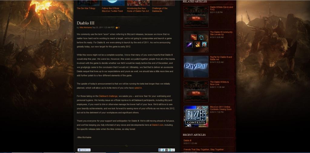 Diablo 3 vyjde na začátku roku 2012 52354
