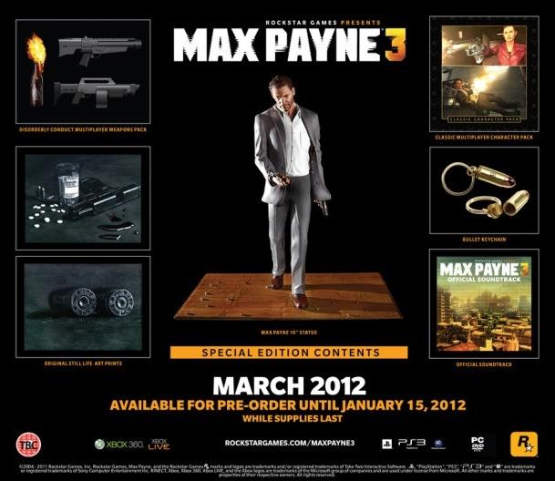 Max Payne 3 odhaluje Speciální edici 56099