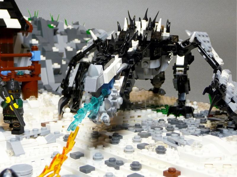 Kostičkovaný Skyrim ukazuje akční souboj 58120