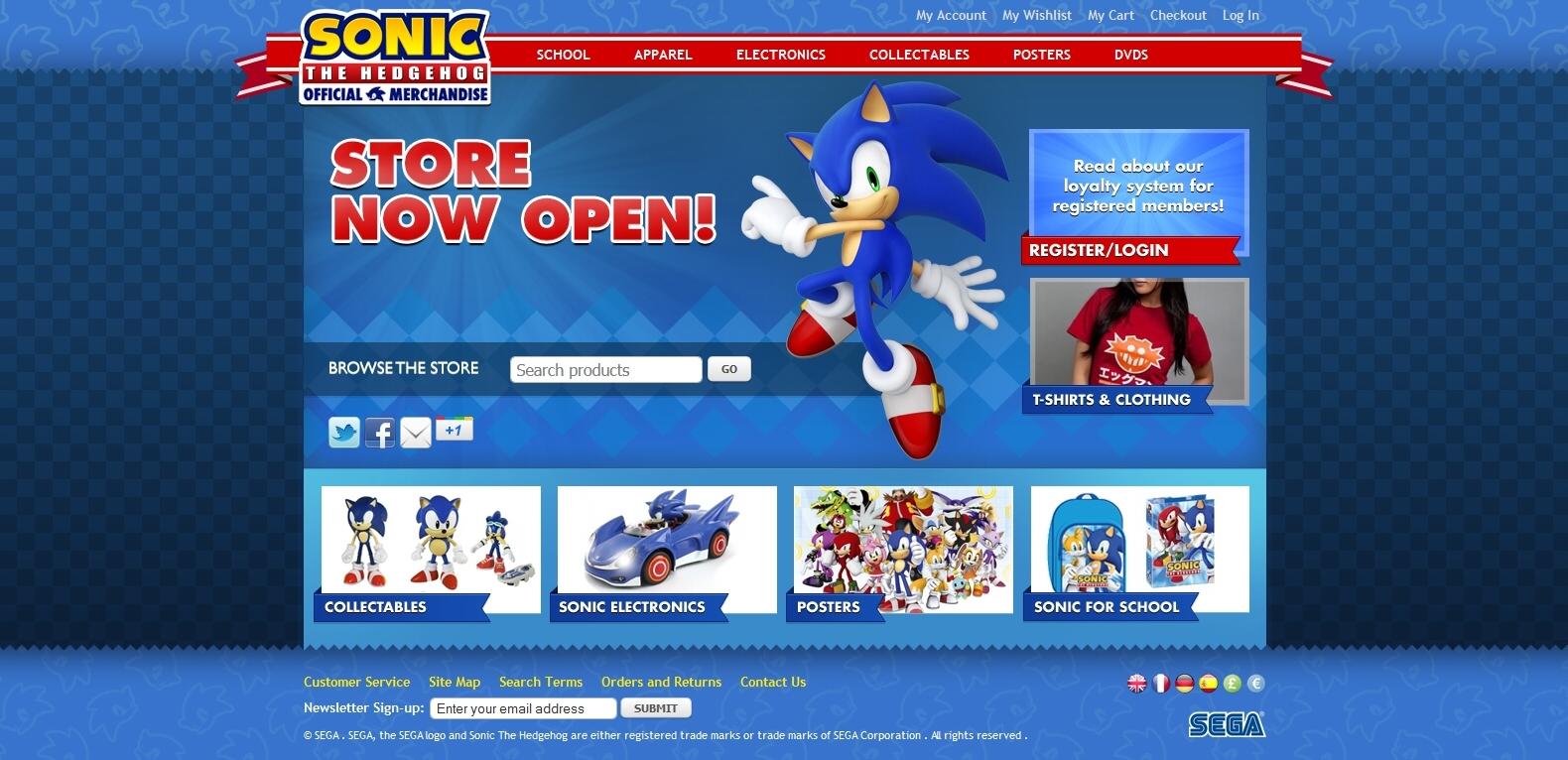 Sega spouští vlastní e-shop pro Sonica 58929