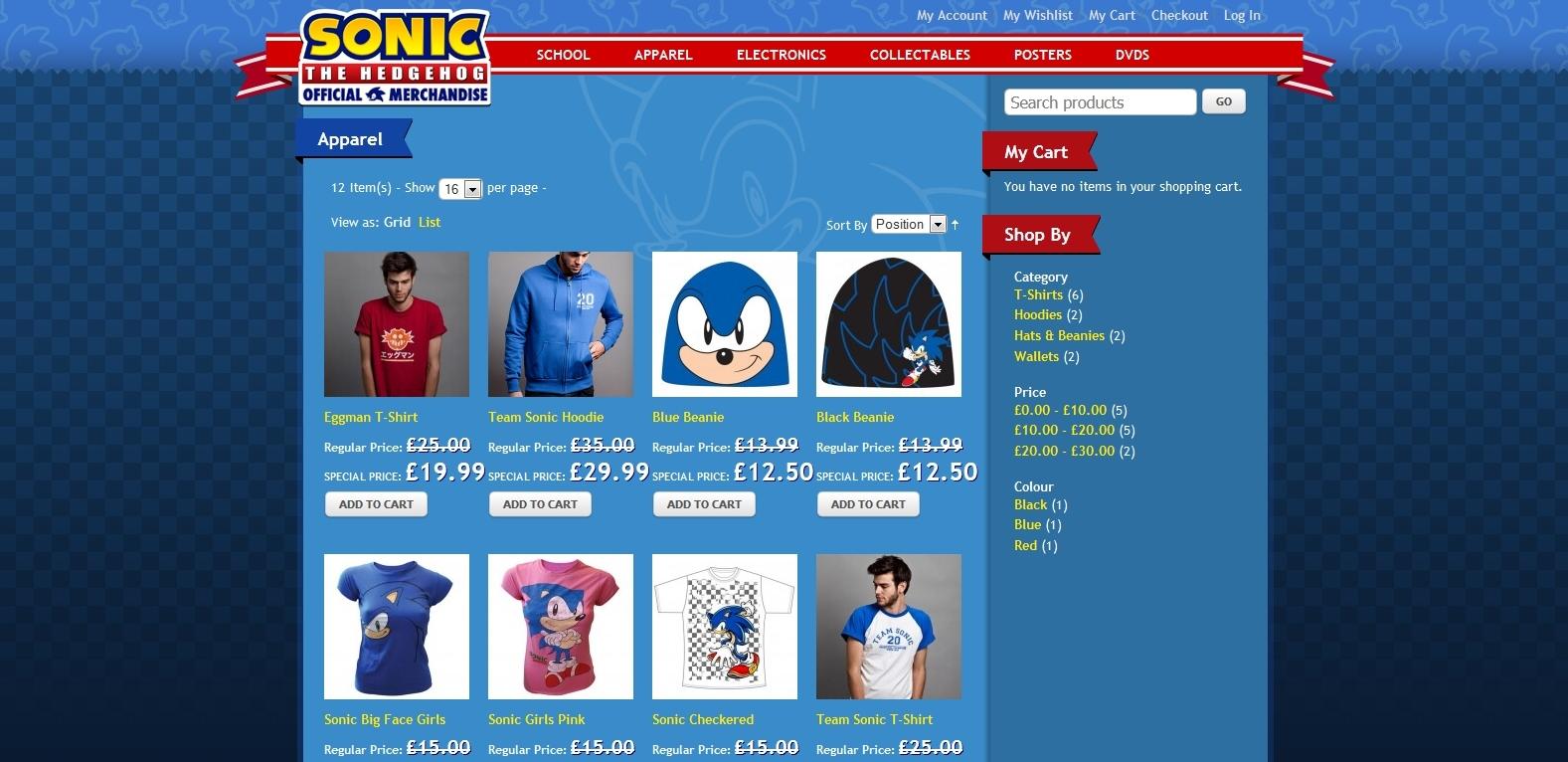 Sega spouští vlastní e-shop pro Sonica 58930