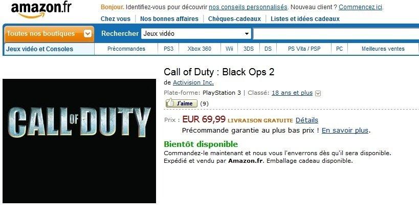 Amazon nabízel Call of Duty: Black Ops 2 60407