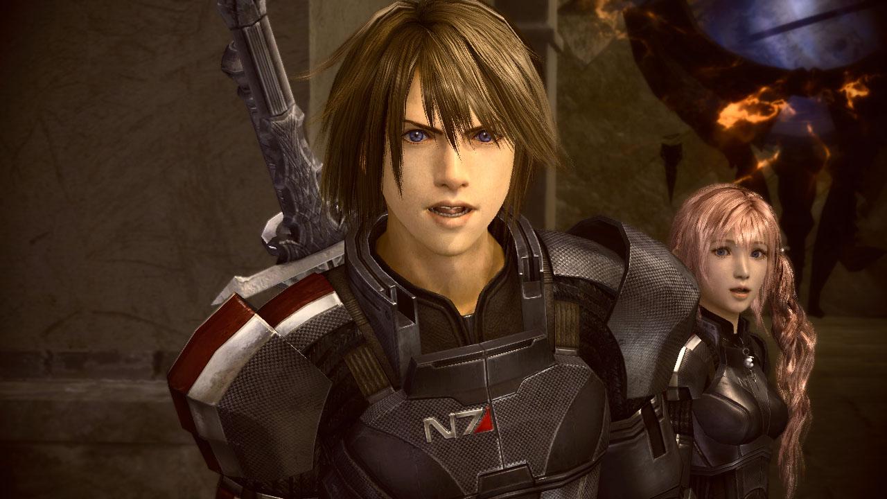 Final Fantasy XIII-2 s brněním Mass Effectu 62575
