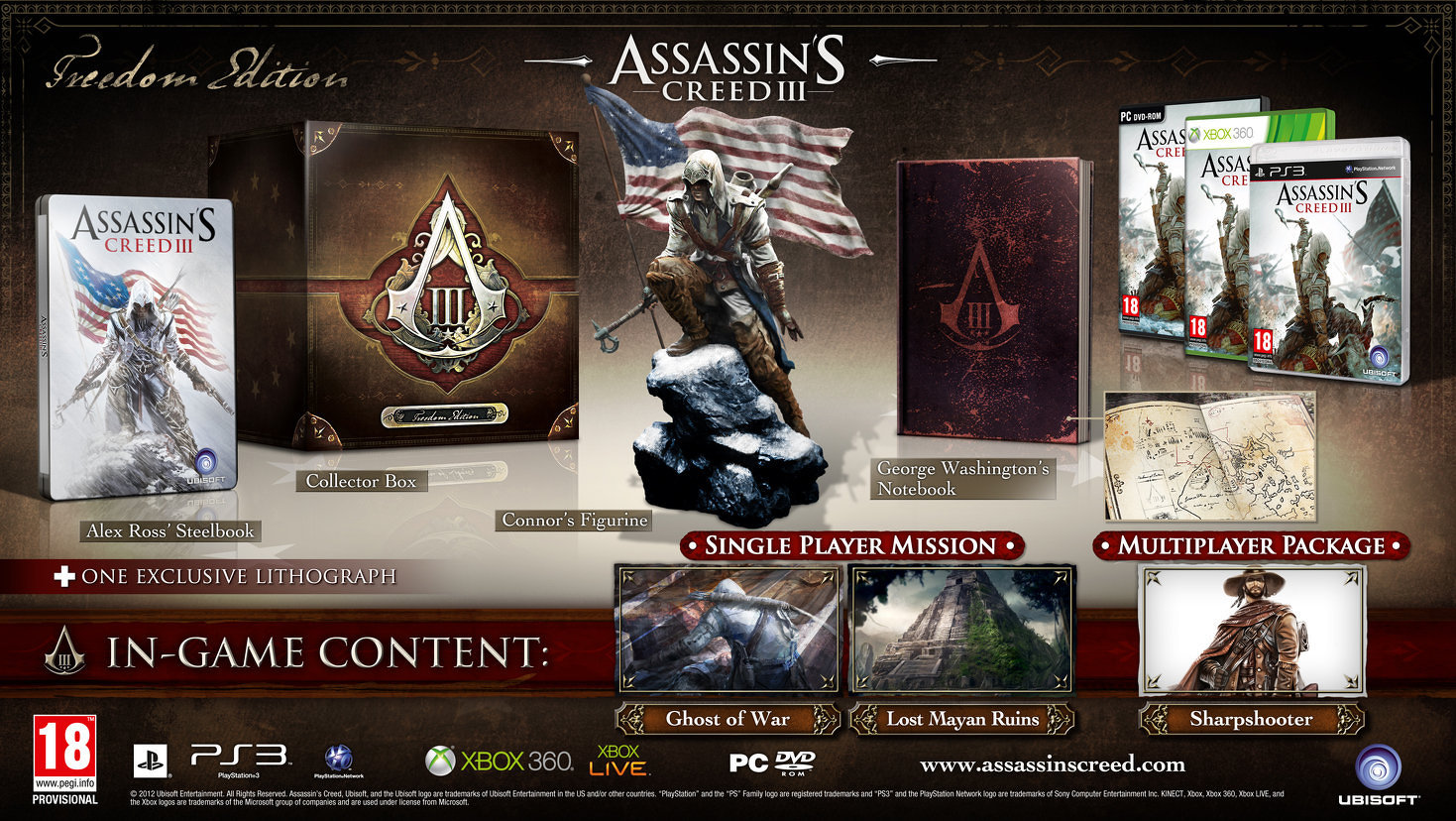 Poslední kusy Freedom a Join or Die edice Assassin's Creed 3 62700