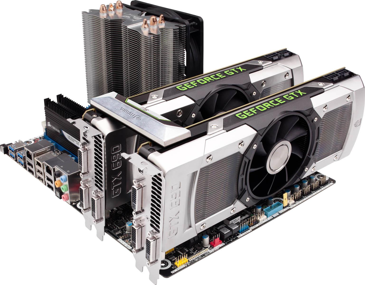 Nvidia představila grafickou kartu GeForce GTX 690 64428