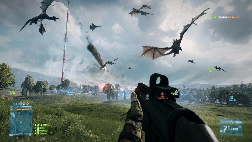 Draci ze Skyrim v Battlefield 3 68122