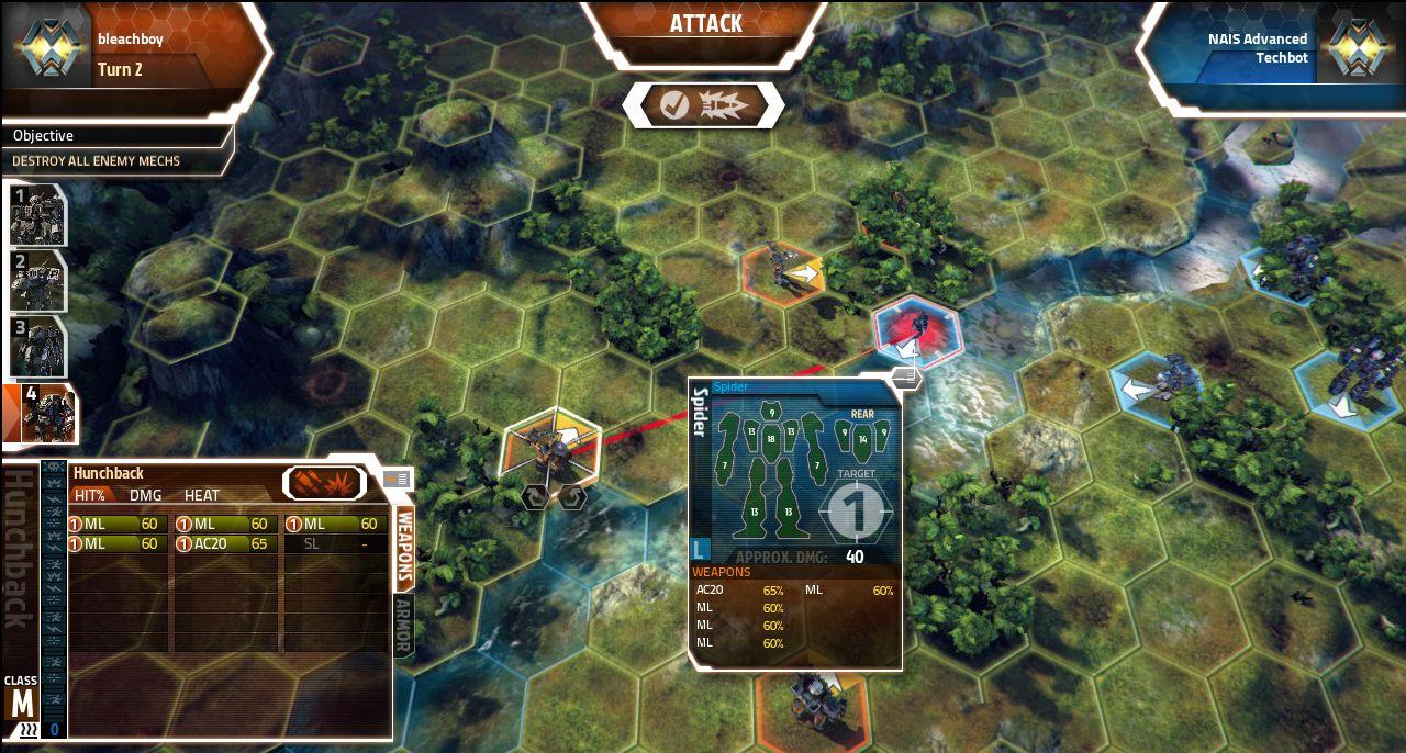 Screenshoty z MechWarrior Tactics 68556
