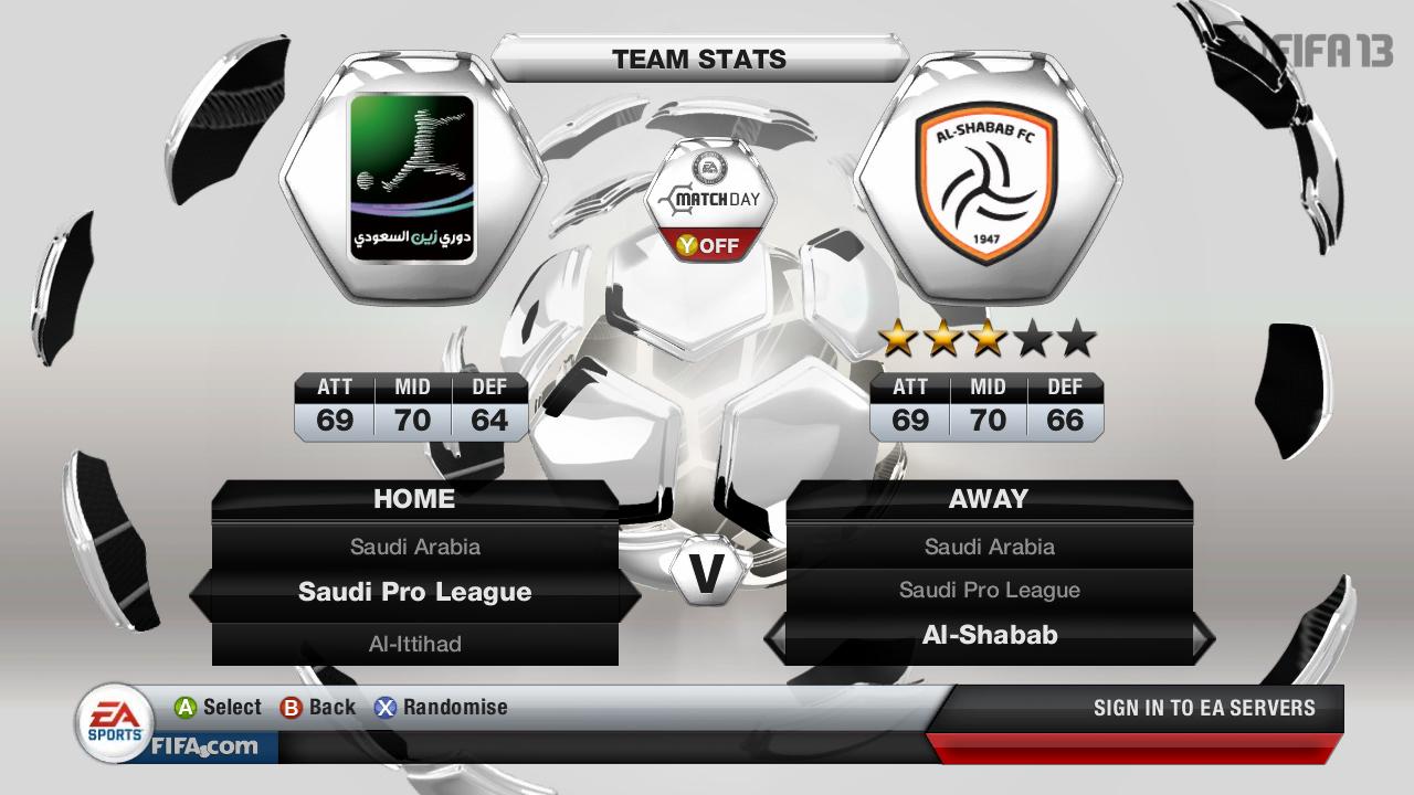 Kluby ze Saudské Premier League ve FIFA 13 69505