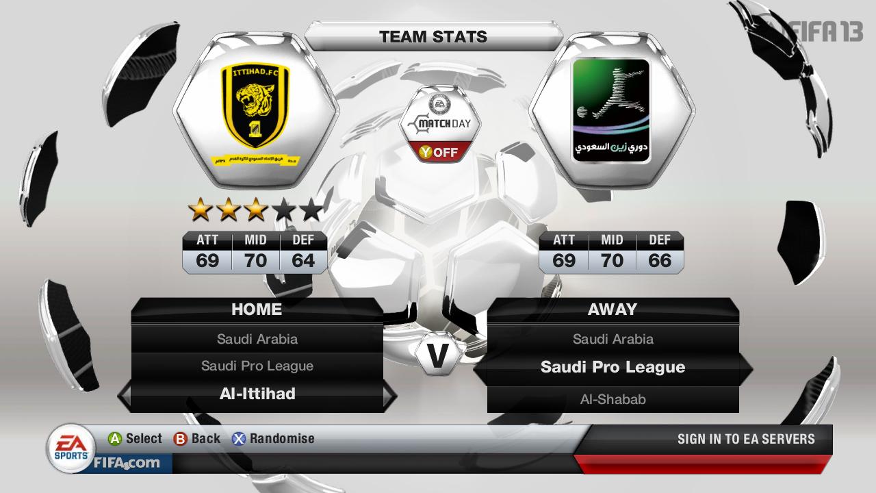 Kluby ze Saudské Premier League ve FIFA 13 69506