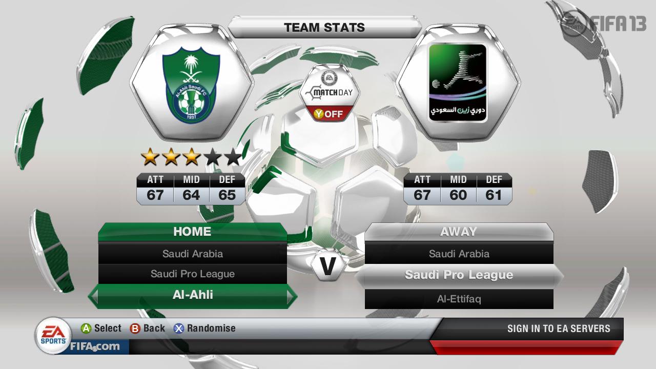 Kluby ze Saudské Premier League ve FIFA 13 69507
