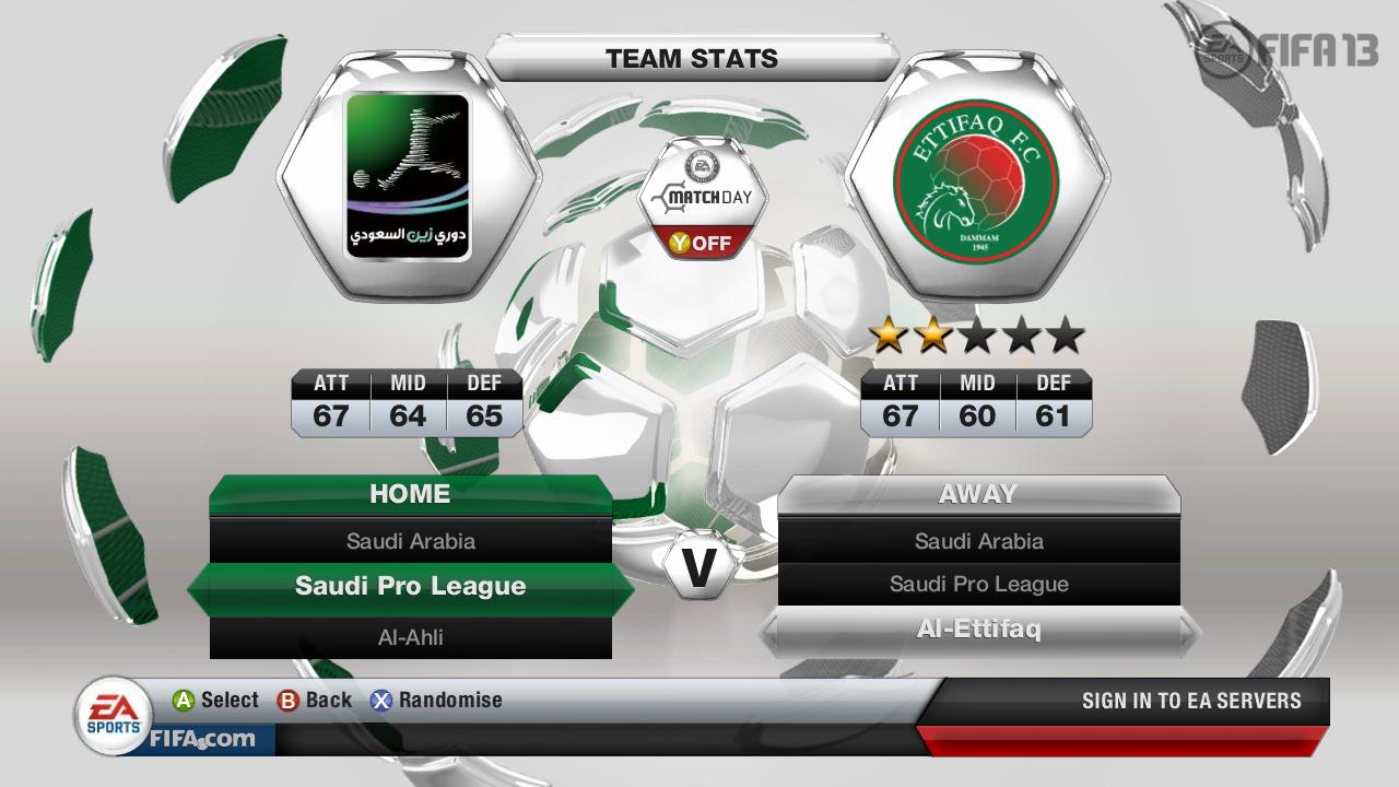 Kluby ze Saudské Premier League ve FIFA 13 69508