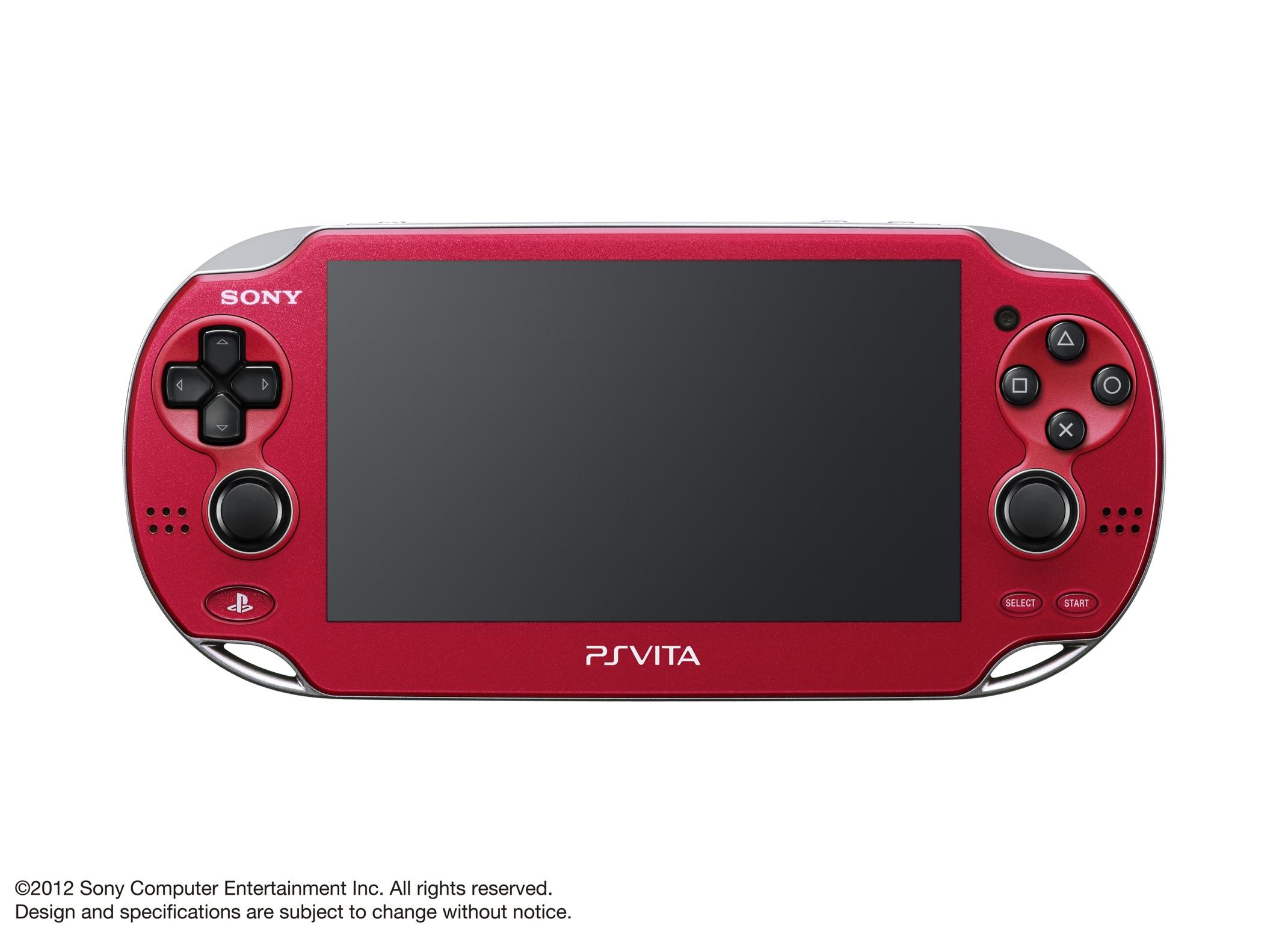 Modrá a červená verze PlayStation Vita 70609