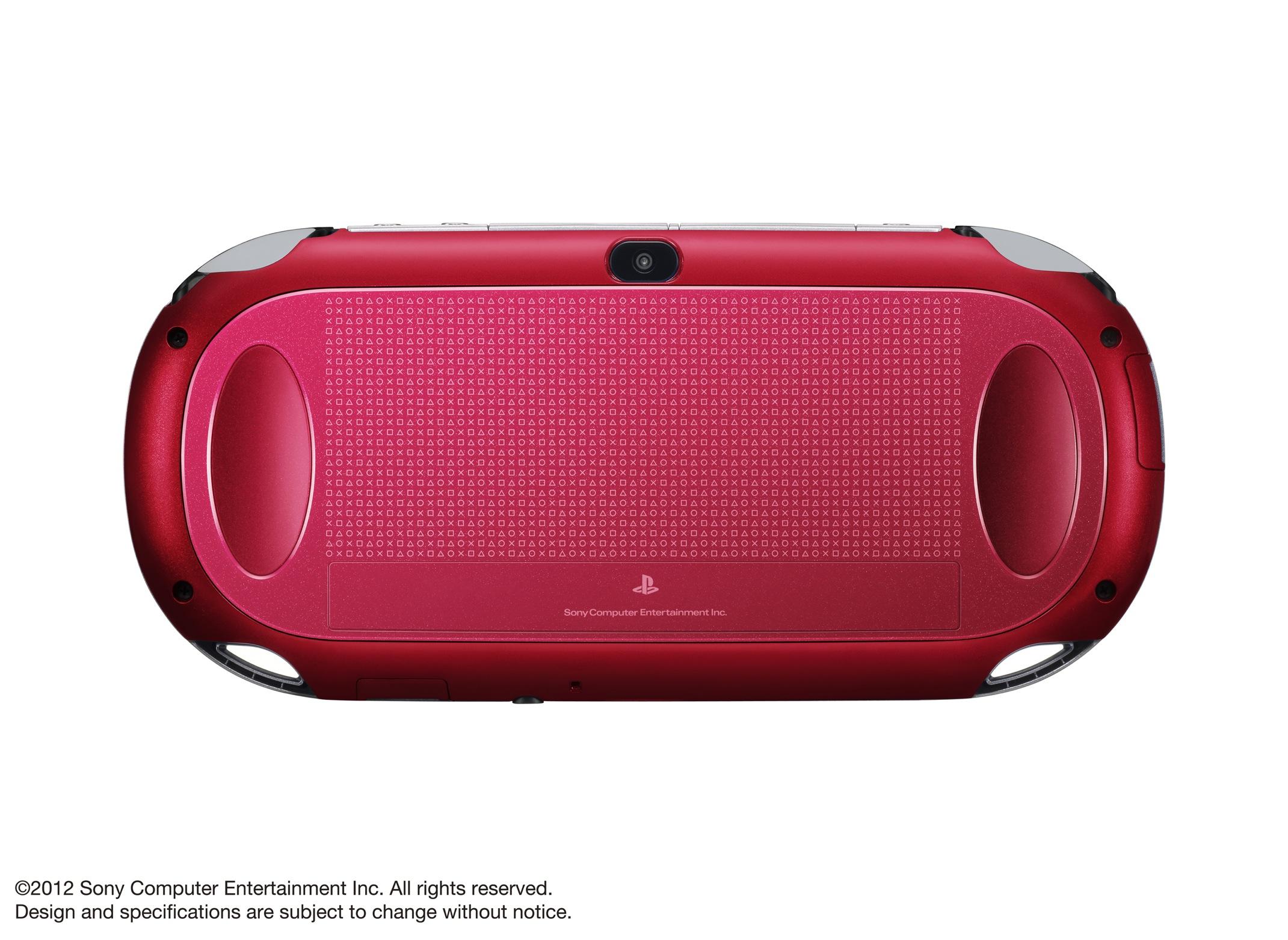 Modrá a červená verze PlayStation Vita 70610