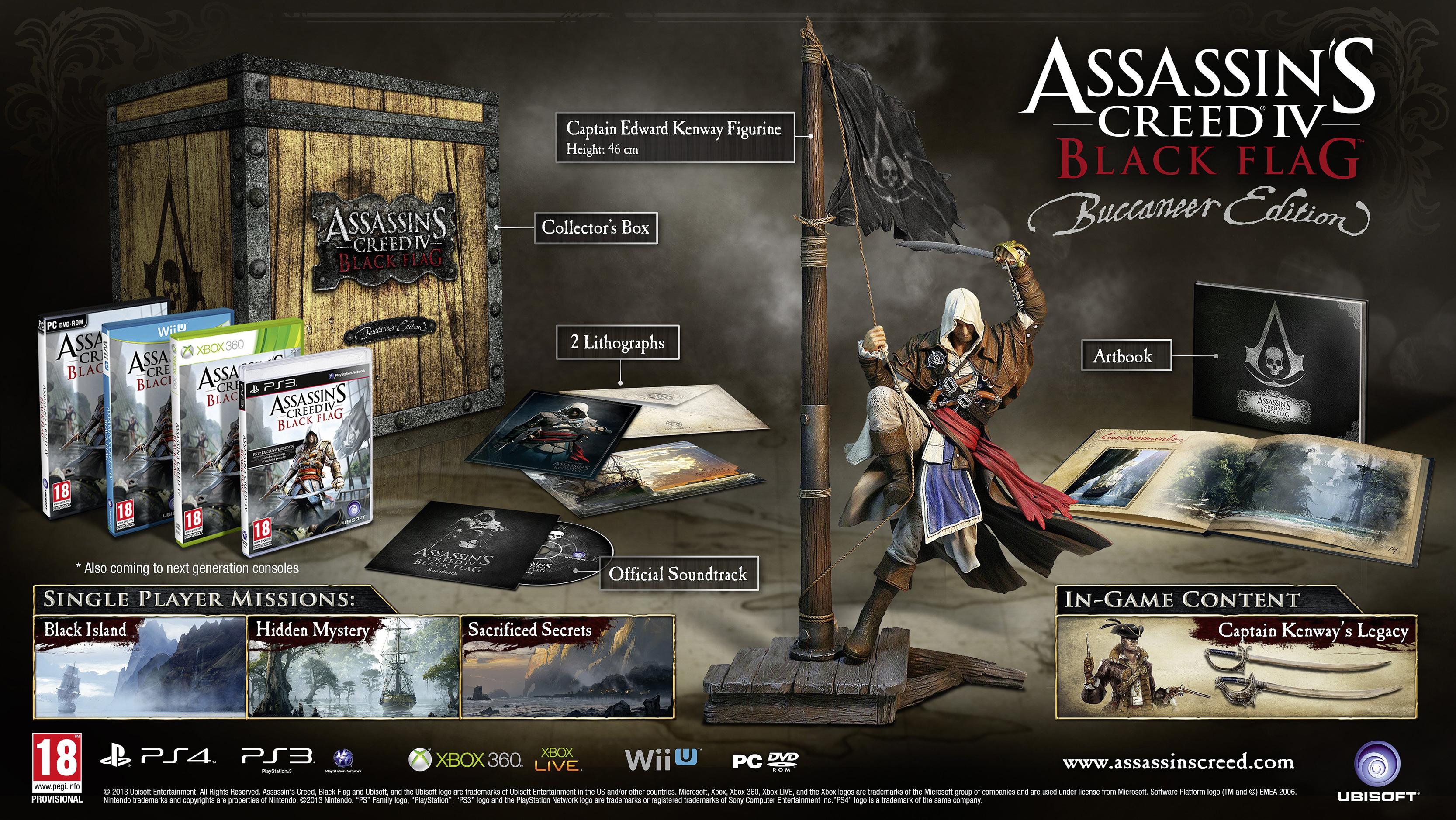 Předobjednejte si sběratelské edice Assassin's Creed 4: Black Flag 78327