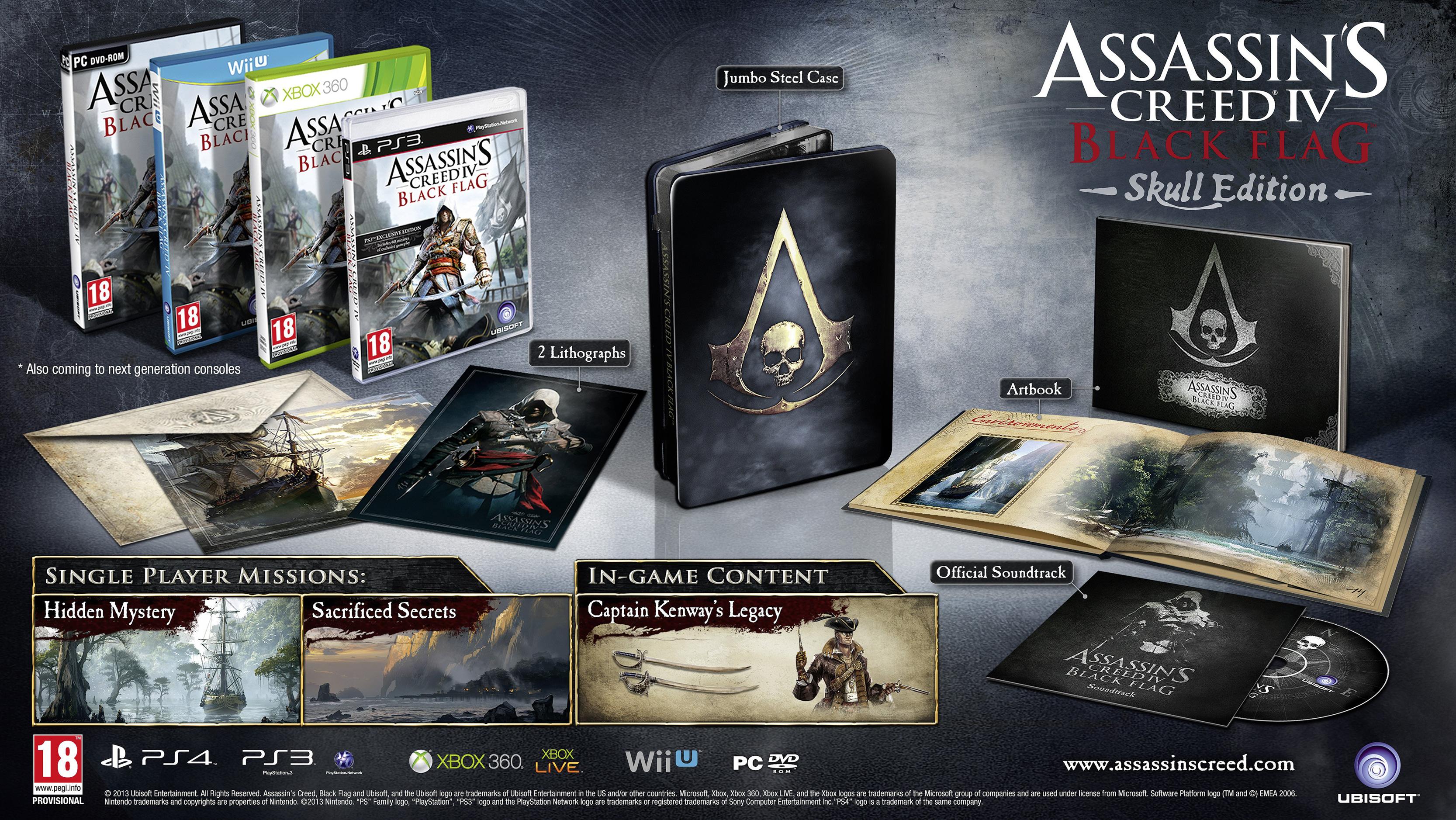 Předobjednejte si sběratelské edice Assassin's Creed 4: Black Flag 78328