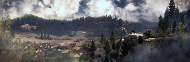 Panoramatické záběry na bitvu v Teutoburském lese z Total War: Rome 2 79489