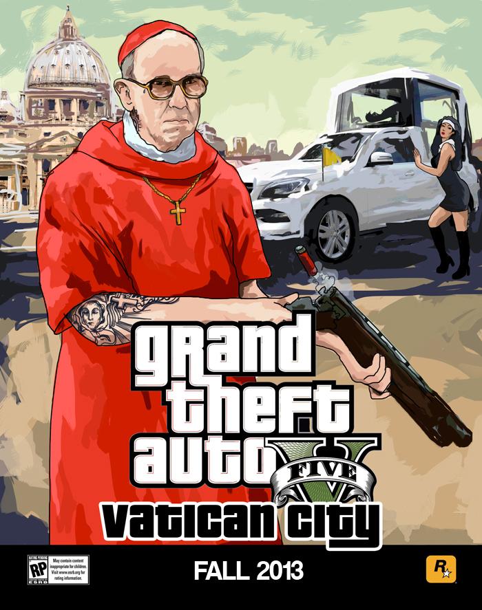 Grand Theft Auto V s papežem 79721