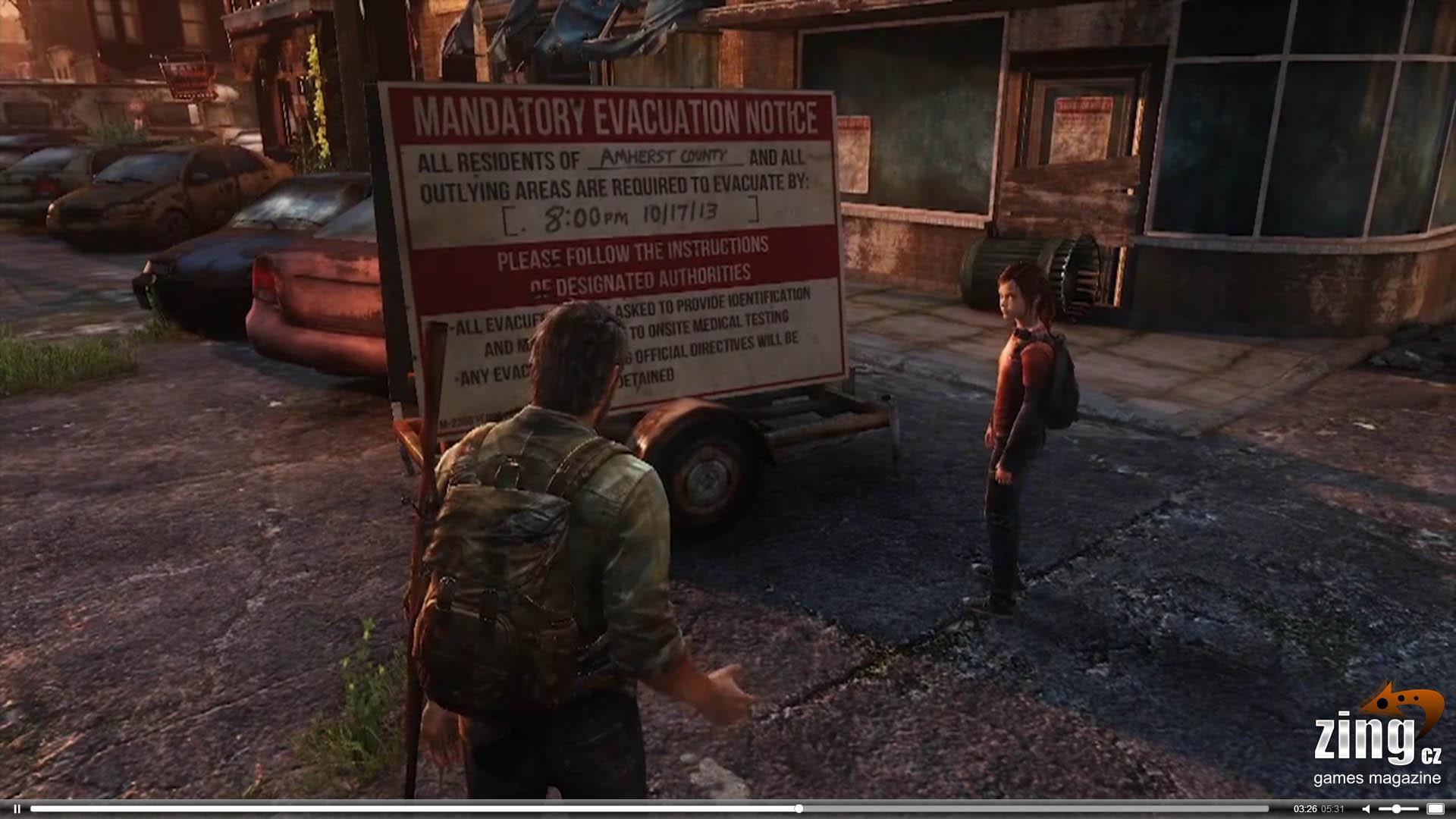 Prozradila cedule s evakuací v The Last of Us datum Uncharted 4 nebo PS4? 80045