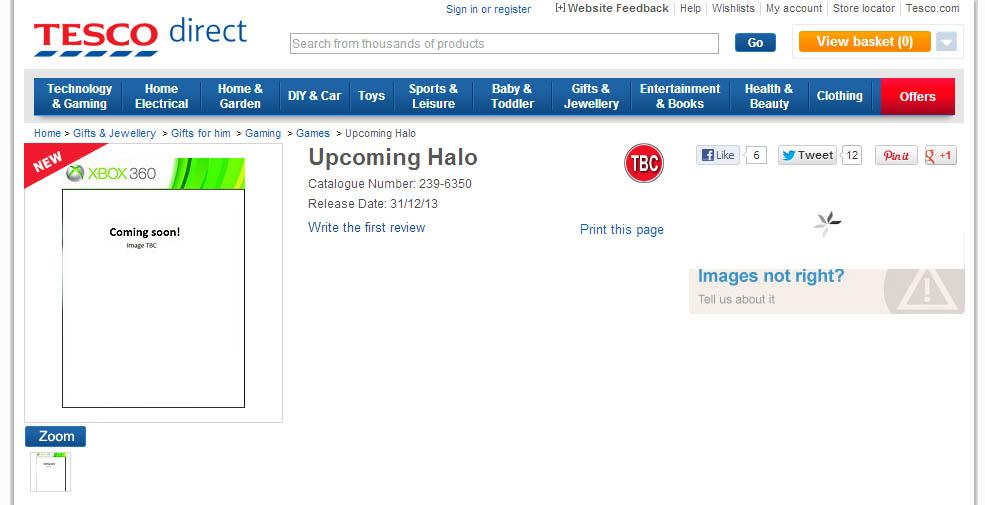 "Vyjde letos Halo 5? ""Upcoming Halo"" láká Tesco 80343"