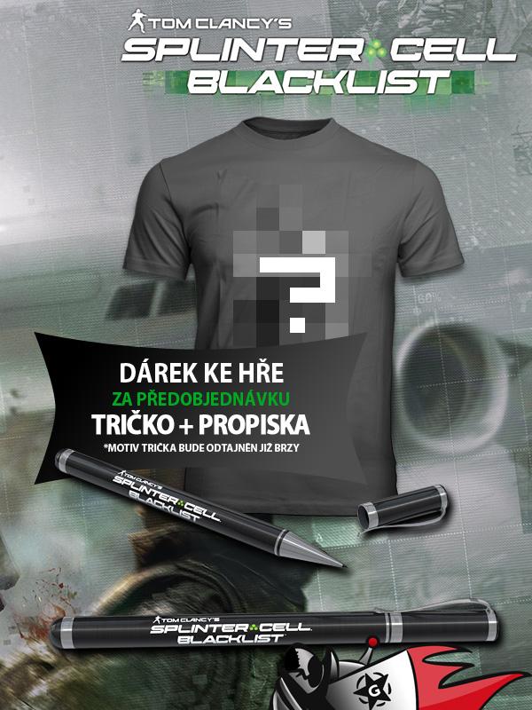 Tričko a propiska k předobjednávkám Splinter Cell: Blacklist 80434