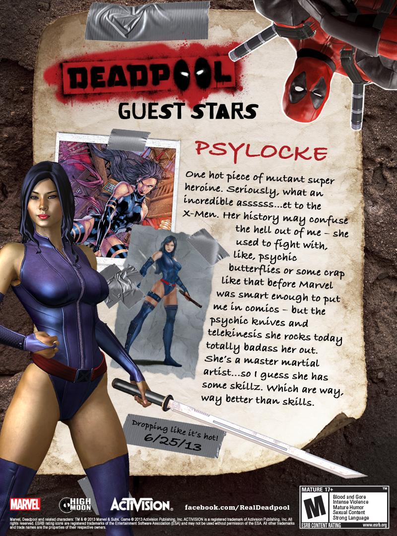 V Deadpool bude Mister Sinister a Psylocke 80476