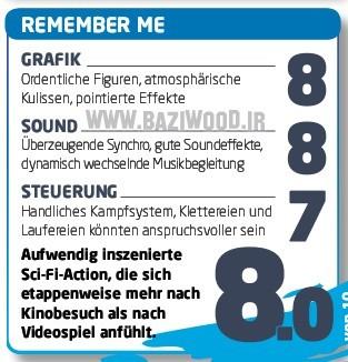 Remember Me slaví úspěch ve druhé recenzi 82339