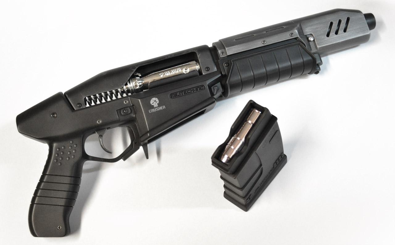 Replika zbraně z traileru Cyberpunk 2077 84281