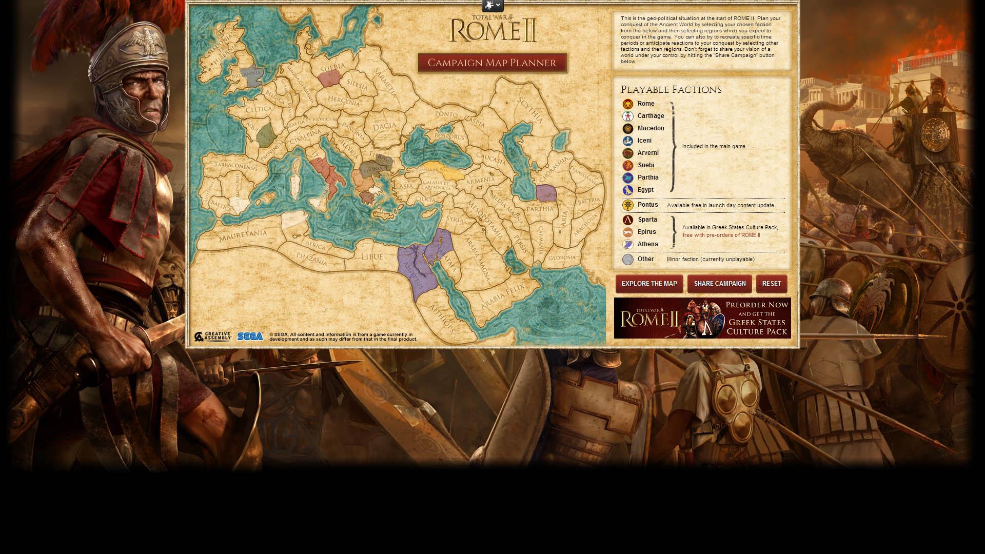 Šikovná interaktivní mapa z Total War: Rome 2 84632