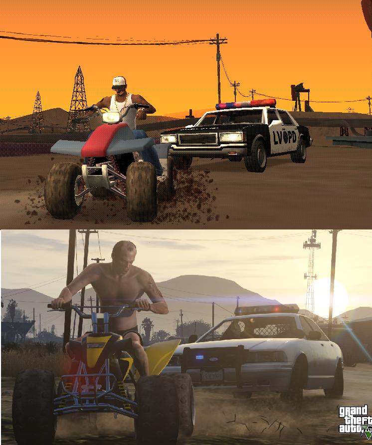 Porovnání GTA: San Andreas s GTA V 85577
