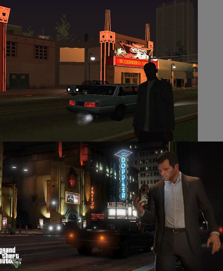 Porovnání GTA: San Andreas s GTA V 85578
