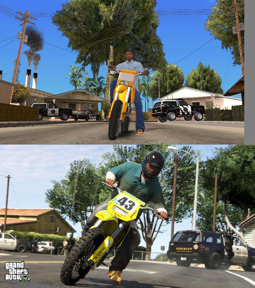 Porovnání GTA: San Andreas s GTA V 85580
