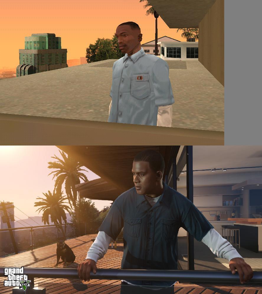 Porovnání GTA: San Andreas s GTA V 85581