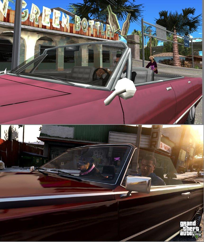 Porovnání GTA: San Andreas s GTA V 85582