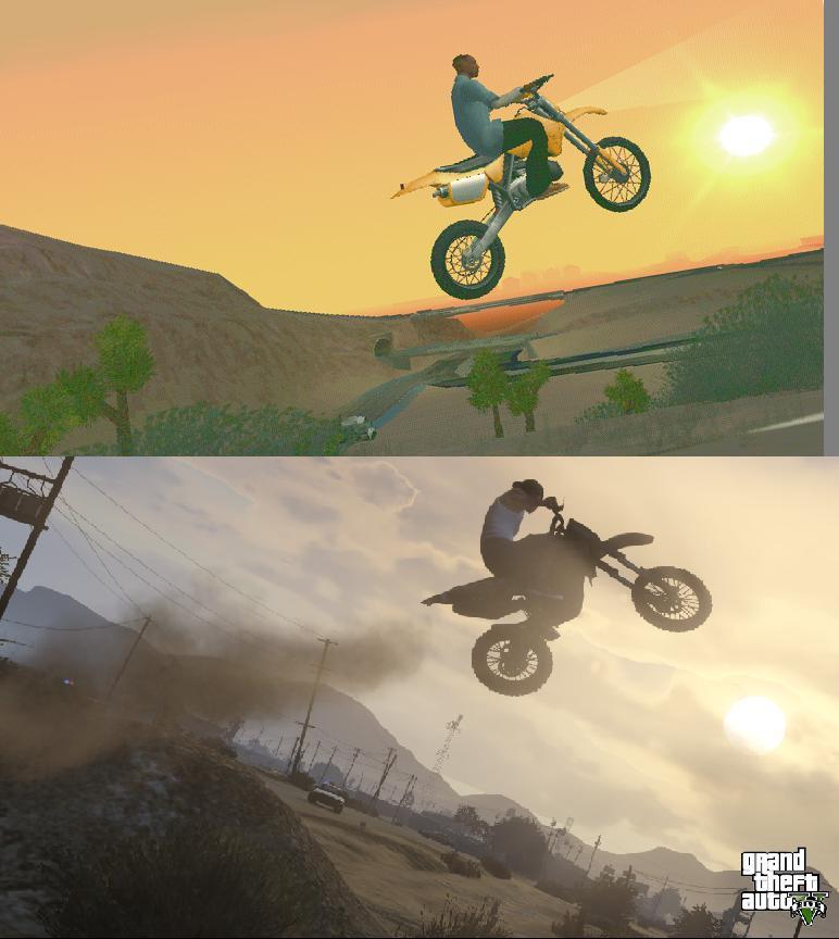 Porovnání GTA: San Andreas s GTA V 85583