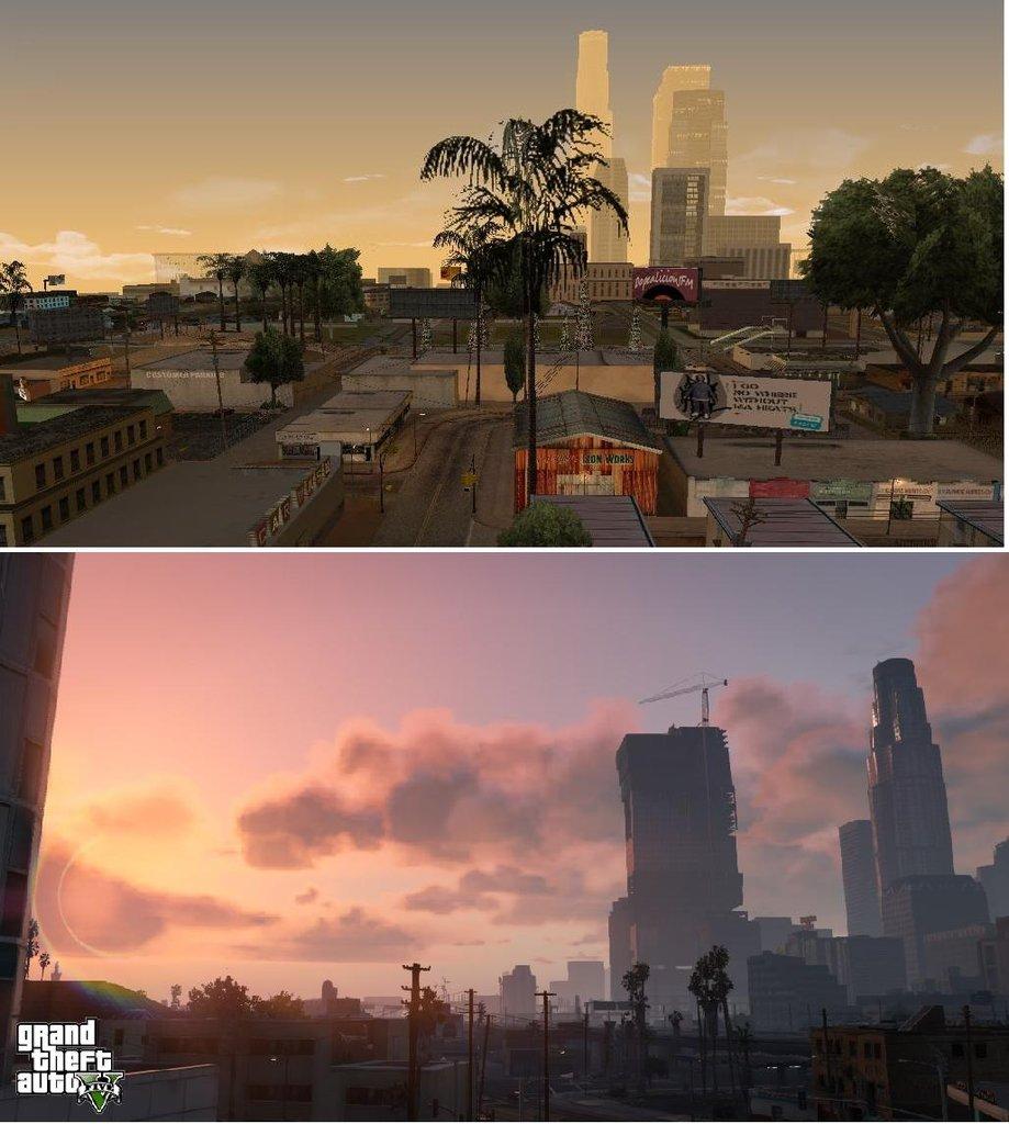 Porovnání GTA: San Andreas s GTA V 85584