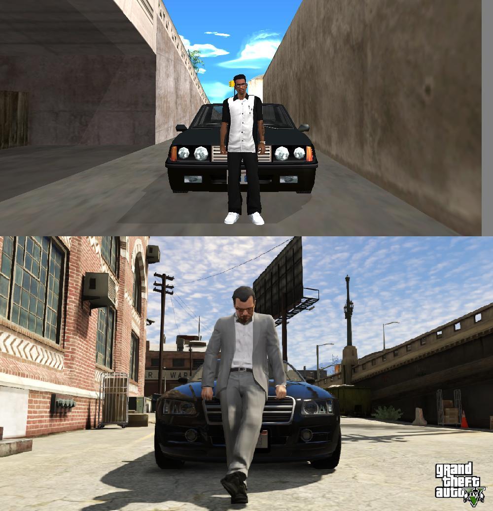 Porovnání GTA: San Andreas s GTA V 85585